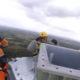 Kuidas näeb välja kahe tonnise antenni paigaldamine masti otsa