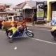 Aafrika mootorrattur näitab skilli