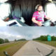 Kaamera jäädvustab hetke, mil rekkajuht jääb roolis magama